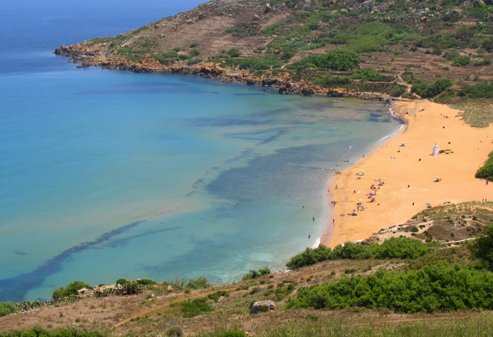 best beaches Ramla Hamra Gozo, Malta