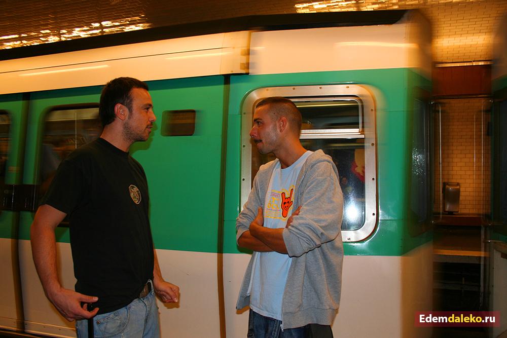paris metro men